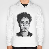 robert downey jr Hoodies featuring Robert Downey Jr. by Haley Erin