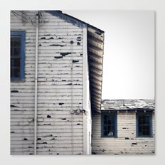 so I wait for you like a lonely house... til then, my windows ache Canvas Print