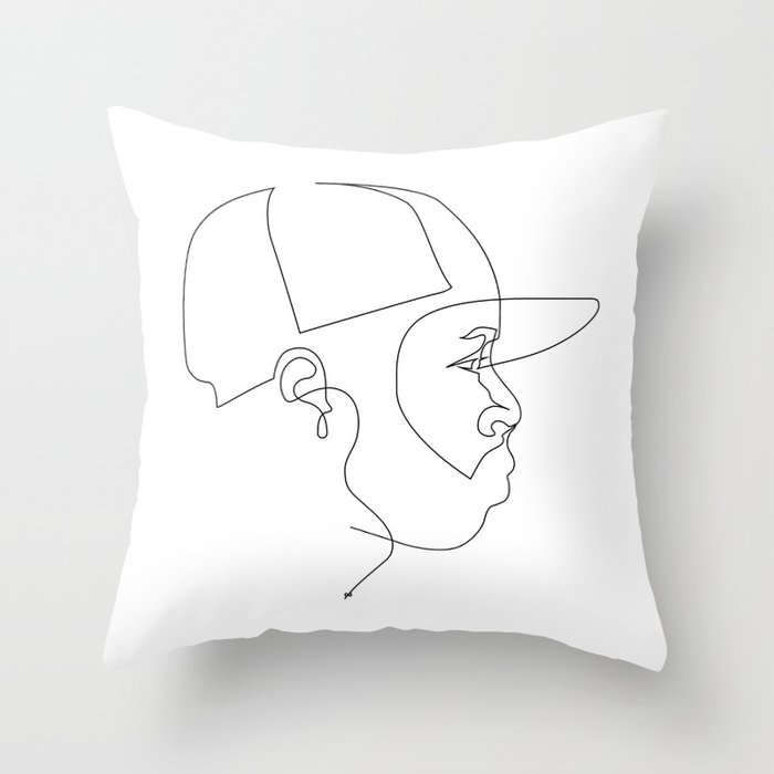 One Line For Dilla Throw Pillow