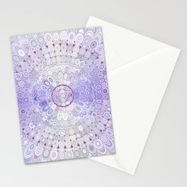 Winter Flower Mandala Stationery Cards