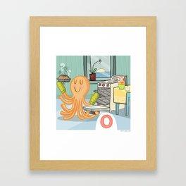 """""""O"""" Framed Art Print"""