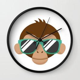 Monkey Sunglasses Wall Clock
