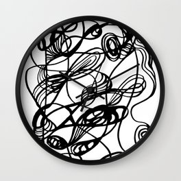 Flowing Lines of Chaos Wall Clock