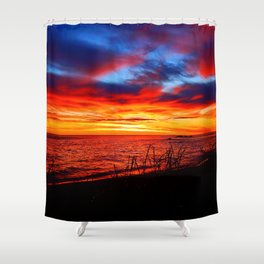 Red Sea at Dawn Shower Curtain