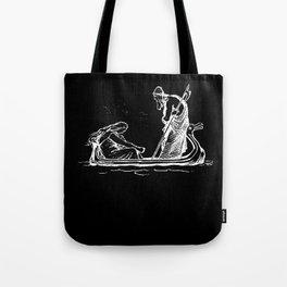 Norse Myth Frigg and Odin Sailing In Fensalir Tote Bag