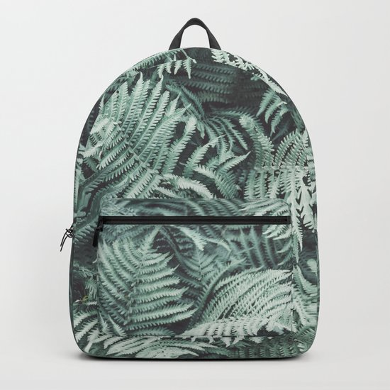 Fern Patten Turquoise Texture Backpack