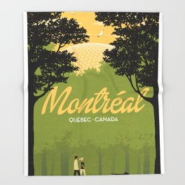 Montreal - Quebec - Canada Throw Blanket