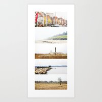 denmark Art Prints featuring Denmark by Delphine Comte
