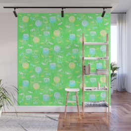 Lollipop and Candy Cheery Lime Green Confection Wall Mural