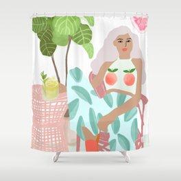 Juice bar Shower Curtain