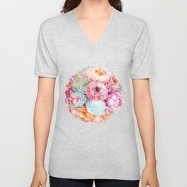 Spring Bouquet Unisex V-Neck