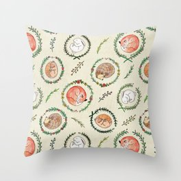 Hygge Forest Animals Throw Pillow