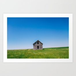 Abandoned House - Montana Art Print