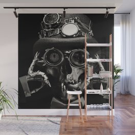 Steampunk Skull Gothic Victorian Horror Art Wall Mural