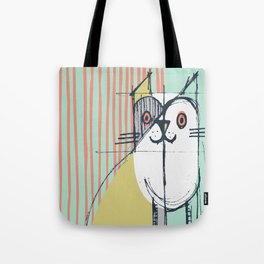 Cubist Cat Study #5 by Friztin Tote Bag