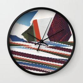 Geometric Glitch Wall Clock
