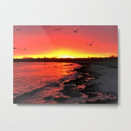 Third Beach Burner Metal Print