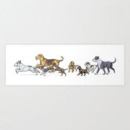 Trotting Terriers Art Print