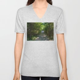 Mt Robson as seen from Kinney lake in the Canadian Rockies Unisex V-Neck