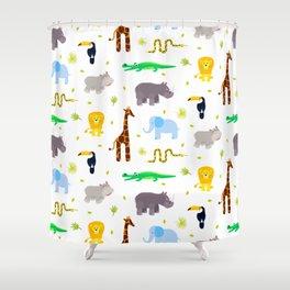 Wild african animals pattern Shower Curtain