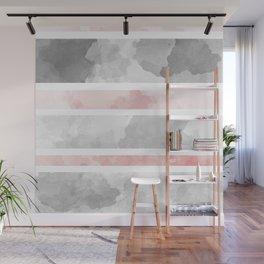 KIROVAIR MARBLE STRIPES #minimal #design #kirovair #decor #buyart #grey #pink #elements Wall Mural