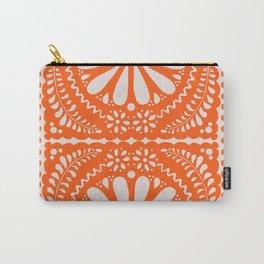 Fiesta de Flores Orange Carry-All Pouch