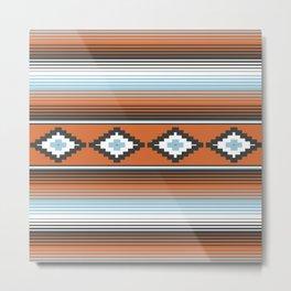 Modern Mexican Serape in Technicolor Metal Print