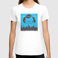 hemingway T-shirts featuring No146 My Manhattan minimal movie poster by Chungkong