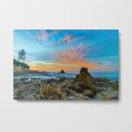 Tide Pool Sunrise at Arch Rock Metal Print