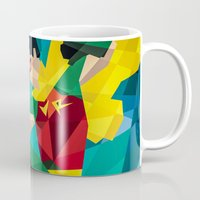 dc comics Mugs featuring DC Comics Robin by Eric Dufresne
