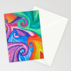 Colorful Swirls Stationery Cards