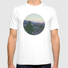 Looking Out To Snowdon Mens Fitted Tee White MEDIUM