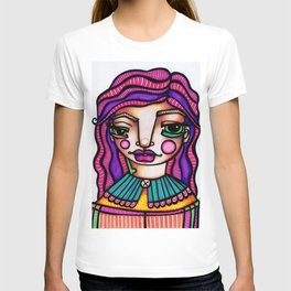 JennyMannoArt Colored Illusration/Peaches T-shirt