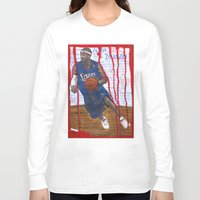 nba Long Sleeve T-shirts featuring NBA PLAYERS - Allen Iverson by Ibbanez