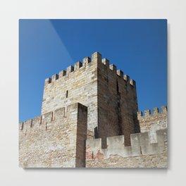 Lisbon Castle, Portugal Analog 6x6 Kodal Ektar 100 (RR 164) Metal Print