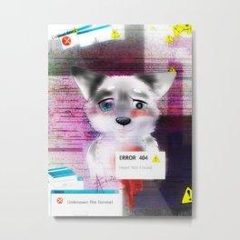 Error 404 white Metal Print