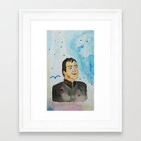 crowley Framed Art Prints featuring supernatural crowley by meldemirci
