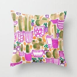 Sorority Plants Throw Pillow
