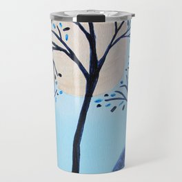 Blue Asian Tree Travel Mug
