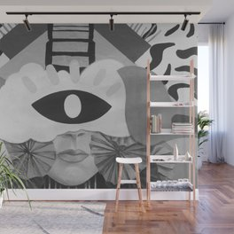 What is Art? (Black and White) Wall Mural