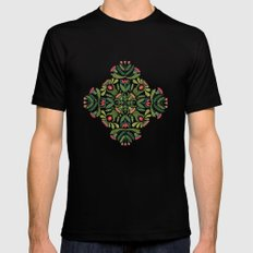 Little Red Riding Hood mandala Black Mens Fitted Tee 2X-LARGE