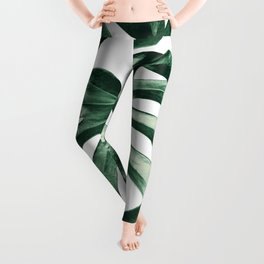 Tropical Monstera Leaves Dream #2 #tropical #decor #art #society6 Leggings