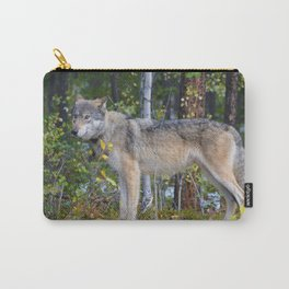 Wolf encounter in Jasper National Park Carry-All Pouch