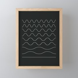 between waves Framed Mini Art Print