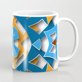 aztec mandala sun blue Coffee Mug
