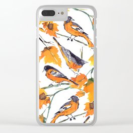Birds in Autumn Clear iPhone Case