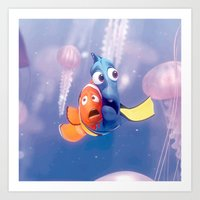 finding nemo Art Prints featuring Finding Nemo by Max Jones