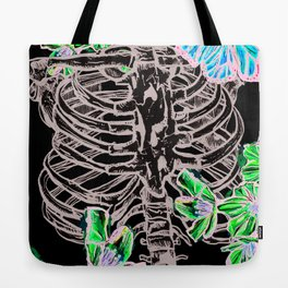 Cherry Blossom Spare Ribs and Butterflies Tote Bag