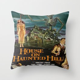Vintage poster - House on Haunted Hill Throw Pillow