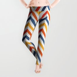 Abstract design 20 04 Graphic fine art zigzag overlay mixed colorful random Geometry pattern Leggings